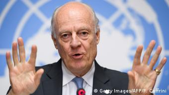 Schweiz Staffan de Mistura in Genf (Getty Images/AFP/F. Coffrini)