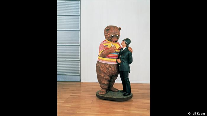 Sculpture of Bear and Policeman (Jeff Koons)