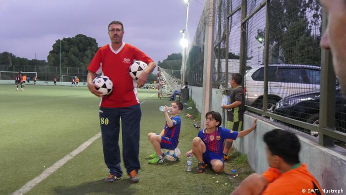 Trainer Tarek aus dem Flüchtlingslager Chatila