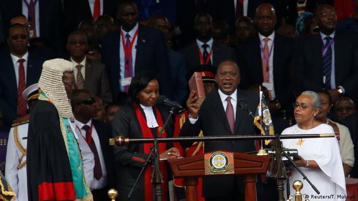 Kenya's President Uhuru Kenyatta takes oath of office