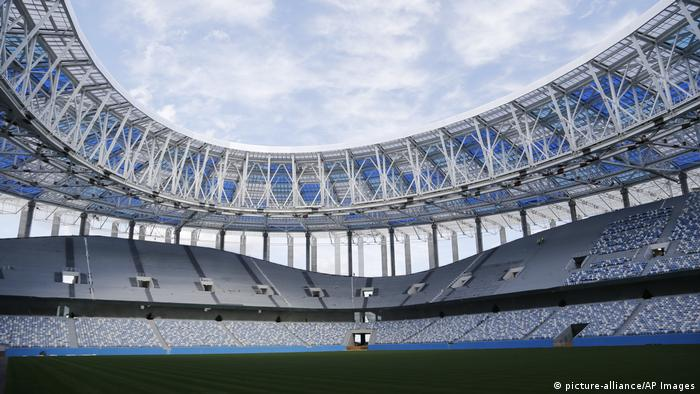 Това съоръжение е едно от деветте, които са изградени или продължават да се изграждат специално за Световното първенство. Стадионът в Нижни Новгород се намира недалеч от мястото, където се събират реките Волга и Ока. Тук ще се играят мачове от груповата фаза, една 1/8-финална и една 1/4-финална среща.