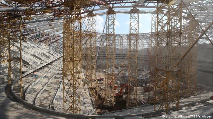 Samara Arena under construction ahead of 2018 FIFA World Cup (picture-alliance/TASS/Y. Aleyev)