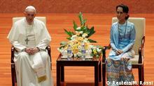 Myanmar Papst Franziskus bei Aung San Suu Kyi in Naypyitaw