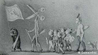 Karikatur Die gute Presse von 1847