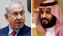 Kombi-Bild Benjamin Netanyahu und Mohammed Bin Salman