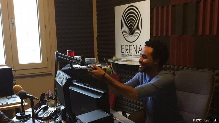 Broadcasting independent information for Eritrea: Moderator Amanuel Ghirmani of Radio Erena
