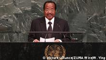 Cameroonian president Paul Biya addressing the United Nations (picture-alliance/ZUMA Wire/W. Ying)
