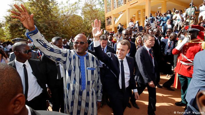 Burkina Faso Besuch Emmauel Macron Universität in Ouagadougou