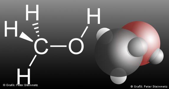 Summenformel für Methanol: CH4O