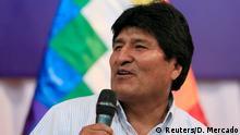 Bolivien Präsident Evo Morales in Santa Cruz