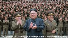 Nordkorea Kim Jong Un (picture alliance/dpa/AP Photo/Korean Central News Agency)