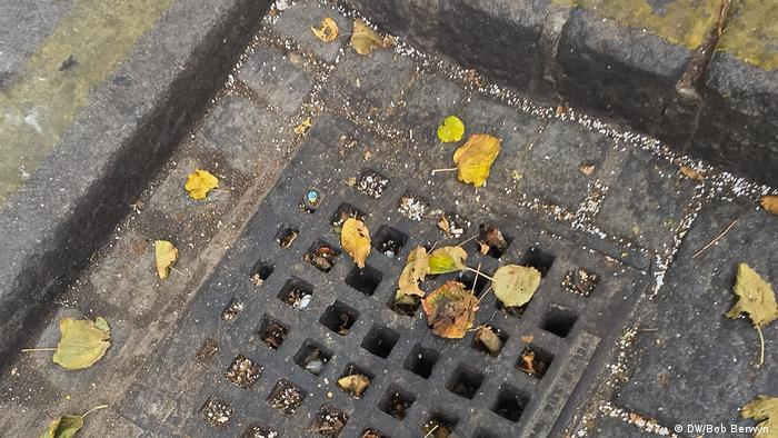 Photo: Plastic pellets in the gutter (Source: Bob Berwyn)