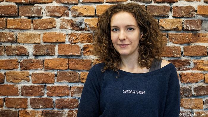 Anna Rys, Mitgründerin des Start-Up-Wettbewerbs Smogathon