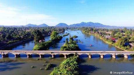 লাওসে মেকং নদী