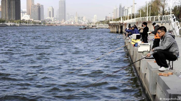 China Hai He Fluss Haihe River in Tianjin (Imago/Xinhua)