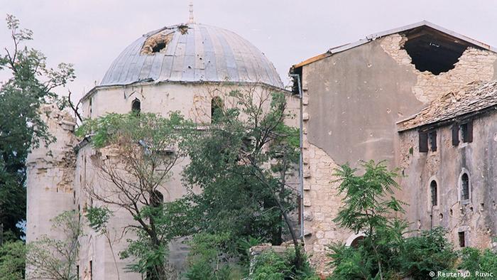Destrucción de Mostar, antes y después.