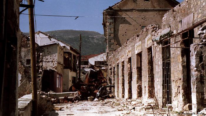 Edificios destruidos en Mostar.