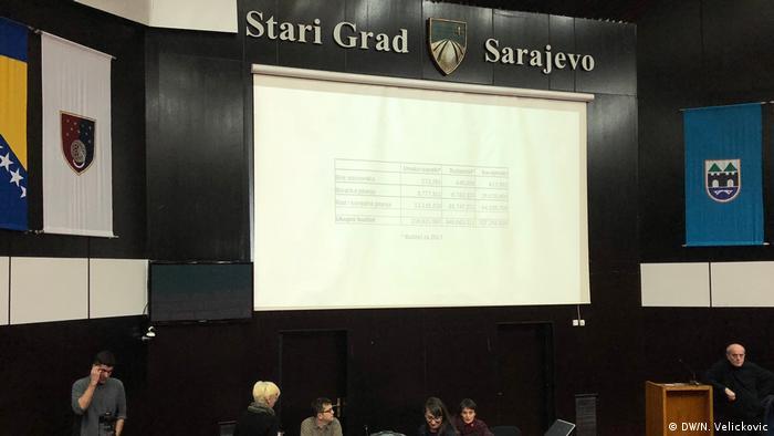Bosnien und Herzegowina - Sitzung der Stadtregierung von Sarajevo