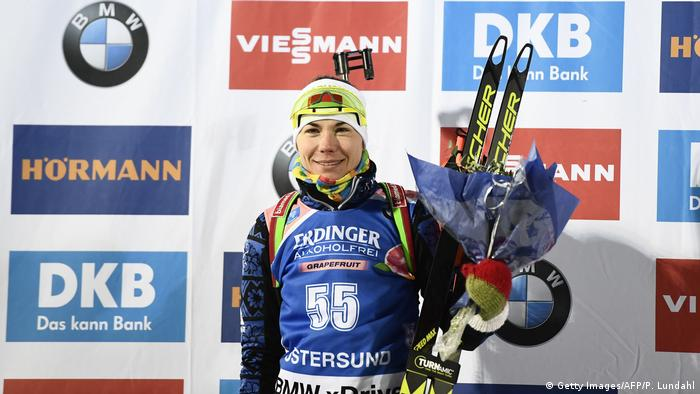 IBU Biathlon World Cup in Schweden Nadeschda Skardino (Getty Images/AFP/P. Lundahl)