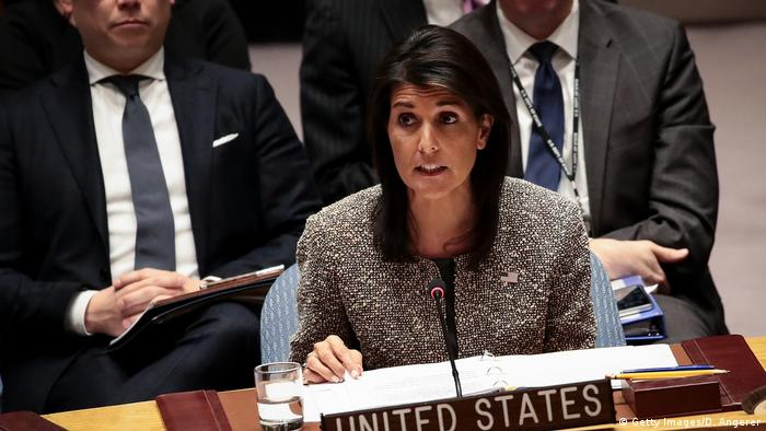 USA UN-Sicherheitsrat Nikki Haley (Getty Images/D. Angerer)