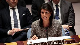 Nikki Haley, US ambassador to the UN, speaks during an emergency meeting of the Security Council on North Korea's nuclear ambitions (Getty Images/D. Angerer)