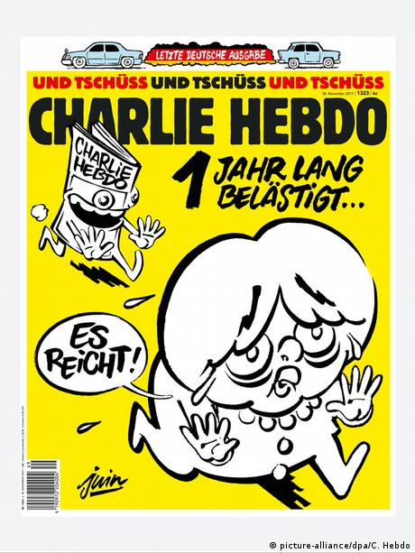 Cover of the last German edition of Charlie Hebdo
