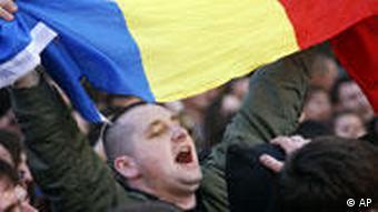 Демонстрация в Кишиневе после выборов в апреле 2009 года