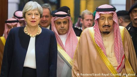 Saudi-Arabien Besuch Theresa May in Riad (Reuters/Saudi Royal Court/B. Algaloud)
