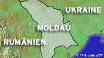 Karte Moldau, Moldawien, Rumänien, Ukraine (Foto: DW)