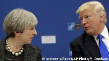 Brüssel Theresa May & Donald Trump