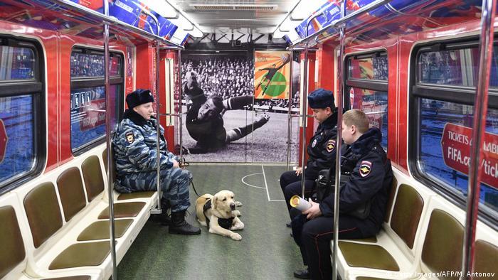 Russland Fußballweltmeisterschaft Moskau 2018 - Metro Zug