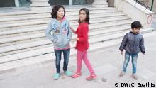 Flüchtlingskinder in Agios Panteleimonas in Athen