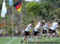 Тренировка немецкой сборной