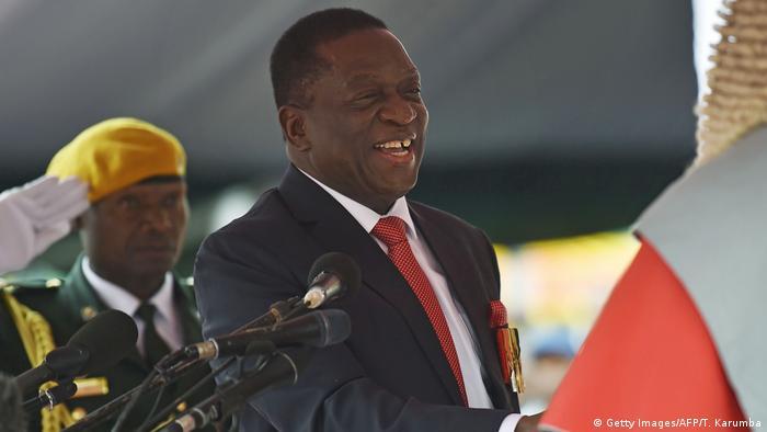 Zimbabwe's new President Emmerson Mnangagwa (