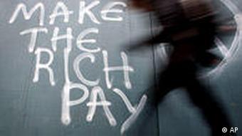 Irland Finanzkrise Nachtragshaushalt Grafitti in Dublin