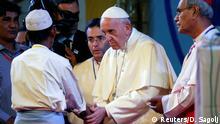Bangladesch Dhaka - Papst Franziskus besucht Rohingya Flüchtlinge