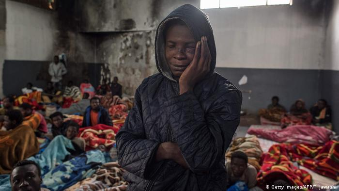 Libyan refugee near Tripoli