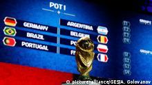 Auslosung FIFA Fußball WM Russland 2018