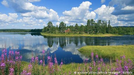 Finnland Fluss Ounasjoki Raattama (picture-alliance/Arco Images/F. Scholz)