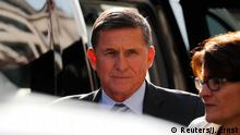 Former U.S. National Security Adviser Michael Flynn arrives for a plea hearing at U.S. District Court, where he's expected to plead guilty to lying to the FBI about his contacts with Russia's ambassador to the United States, in Washington, U.S., December 1, 2017. REUTERS/Jonathan Ernst