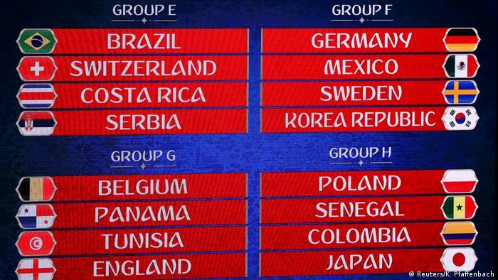 Russland Moskau - FIFA Fußball WM-Auslosung in Russland
