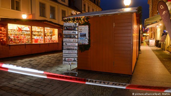 Deutschland Potsdam Evakuierung Weihnachtsmarkt (picture-alliance/dpa/J. Stähle)