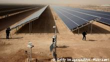 A general view shows part of a new 15 million euro solar plant, funded by the German government, that emits some 12.9 megawatts during its official inauguration at the Zaatari refugee camp on November 13, 2017. Some 80,000 Syrian refugees living in the Zaatari camp will have access to 14 hours of electricity per day instead of eight hours, thanks to the opening of the new solar power station. / AFP PHOTO / KHALIL MAZRAAWI (Photo credit should read KHALIL MAZRAAWI/AFP/Getty Images)