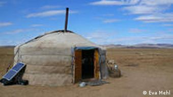 Sleeping in yurts is part of the nomadic experience for foreigners visiting Mongolia