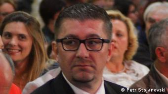 Mazedonien Hristijan Mickoski, Generalsekretär der Oppositionspartei VMRO-DPMNE (Petr Stojanovski)