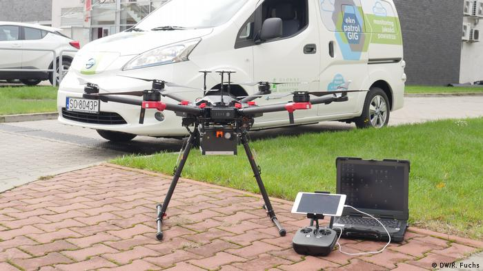 Sniffer drone in Katowice (DW/R. Fuchs)