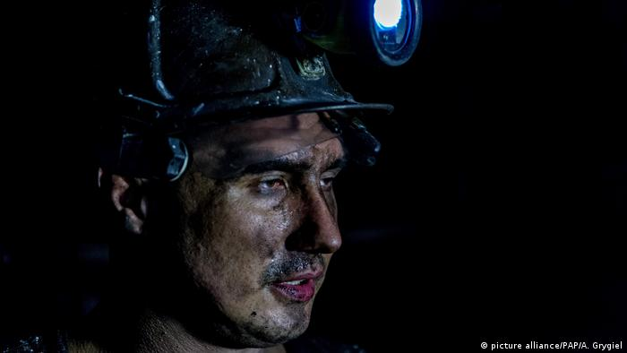 Traditional Polish coal miner in Wieczorek in Poland