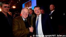 Deutschland Hannover AfD Parteitag Gauland und Meuthen
