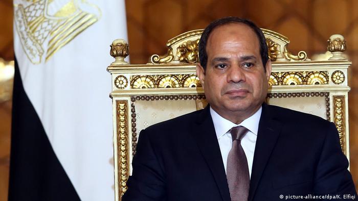 Ägypten Präsident Abdel Fattah Al-Sisi (picture-alliance/dpa/K. Elfiqi)