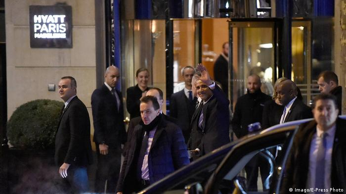 Paris Hyatt Madeleine Hotel Obama Hollande (Imago/E-Press Photo)